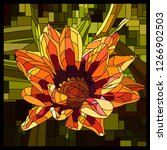 vector angular mosaic with... | Shutterstock .eps vector #1266902503