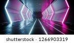 neon glowing lines sci fi... | Shutterstock . vector #1266903319