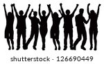 large group of people... | Shutterstock .eps vector #126690449