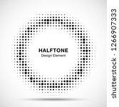 halftone circle vector frame... | Shutterstock .eps vector #1266907333