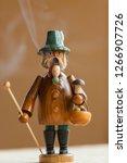 a hand made smoker figurine ...   Shutterstock . vector #1266907726