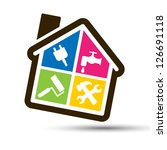 four color home made by... | Shutterstock .eps vector #126691118