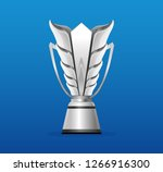 uae 2019 silver trophy cup... | Shutterstock .eps vector #1266916300