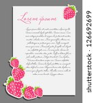 strawberry background blank... | Shutterstock .eps vector #126692699