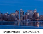 calgary's skyline along the bow ... | Shutterstock . vector #1266930376
