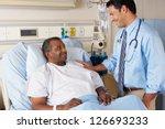 doctor visiting senior male... | Shutterstock . vector #126693233