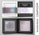 vector layout of two covers... | Shutterstock .eps vector #1266942349