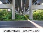 overpass in nature concrete... | Shutterstock . vector #1266942520