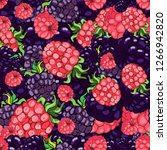 seamless pattern with large...   Shutterstock .eps vector #1266942820