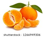 Sliced Tangerine Path Isolated...