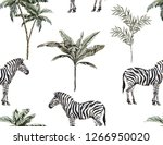 beautiful tropical vintage... | Shutterstock .eps vector #1266950020