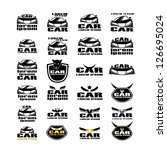 Car Symbols Isolated On White Background - Vector Illustration, Graphic Design Editable For Your Design. Car Logo
