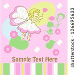 little princess greeting card...   Shutterstock .eps vector #126695633