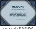 frame with blue jeans angles... | Shutterstock .eps vector #1266963046