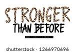 slogan graphic with animal skin ... | Shutterstock . vector #1266970696