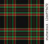 christmas and new year tartan... | Shutterstock .eps vector #1266975670