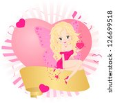 greeting card with a fairy in a ... | Shutterstock .eps vector #126699518
