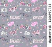 fashion pop art sketch seamless ... | Shutterstock .eps vector #1266997783