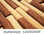 dark and light biscuits  bamboo ... | Shutterstock . vector #1267014439
