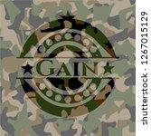 gain on camo texture | Shutterstock .eps vector #1267015129