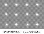white glowing light explodes on ... | Shutterstock .eps vector #1267019653