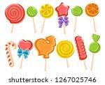 lollipop set. vector | Shutterstock .eps vector #1267025746