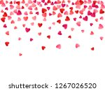 ruby red flying hearts bright... | Shutterstock .eps vector #1267026520