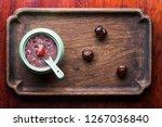 health porridge in the soup of... | Shutterstock . vector #1267036840