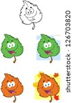 green leaf cartoon mascot... | Shutterstock .eps vector #126703820