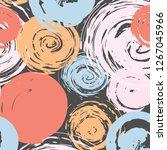 abstract pattern brush stroke... | Shutterstock .eps vector #1267045966