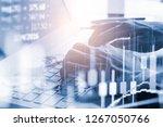 modern way of exchange. bitcoin ... | Shutterstock . vector #1267050766