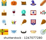 color flat icon set  ... | Shutterstock .eps vector #1267077280
