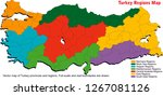 vector map of turkey provinces... | Shutterstock .eps vector #1267081126