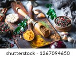 spices and seasonings on the...   Shutterstock . vector #1267094650