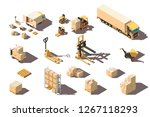 isometric 3d set big and small... | Shutterstock .eps vector #1267118293