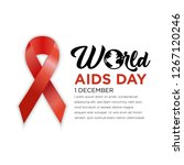 world aids day poster layout... | Shutterstock .eps vector #1267120246