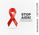 december 1. world aids day... | Shutterstock .eps vector #1267121599