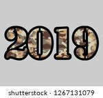2019 new year illustration with ... | Shutterstock .eps vector #1267131079