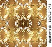 oriental classic beige and... | Shutterstock . vector #1267134073