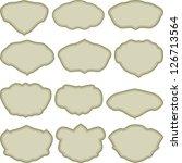 set of simple frames in... | Shutterstock .eps vector #126713564