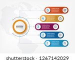 vector abstract 3d paper...   Shutterstock .eps vector #1267142029
