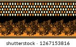 seamless textile floral border | Shutterstock . vector #1267153816