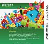 website template | Shutterstock .eps vector #126715523