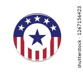 heroic usa flag badge with blue ... | Shutterstock .eps vector #1267156423