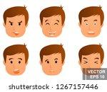 guy. emotions. young. cartoon... | Shutterstock .eps vector #1267157446
