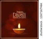 happy diwali festival holiday... | Shutterstock .eps vector #1267167466
