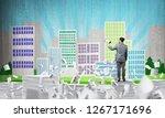 businessman in suit standing... | Shutterstock . vector #1267171696