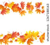 maple leaves vector background  ... | Shutterstock .eps vector #1267188163