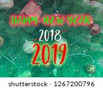 happy new year 2019 words on... | Shutterstock . vector #1267200796