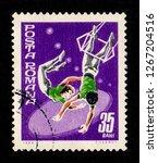 romania   circa 1969  a postage ... | Shutterstock . vector #1267204516
